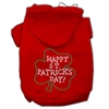 Mirage Pet Products Happy St. Patrick's Day Hoodies Red XXL (18)