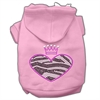 Mirage Pet Products Zebra Heart Rhinestone Hoodies Pink M (12)
