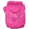 Mirage Pet Products Peace Love Hope Breast Cancer Rhinestone Pet Hoodie Bright Pink XS (8)