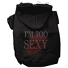 Mirage Pet Products I'm Too Sexy Rhinestone Hoodies Black XS (8)