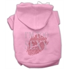 Mirage Pet Products I'm Too Sexy Rhinestone Hoodies Pink XS (8)