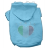 Mirage Pet Products Italian Rhinestone Hoodies Baby Blue XS (8)