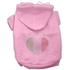 Mirage Pet Products Italian Rhinestone Hoodies Pink XS (8)