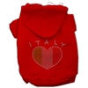 Mirage Pet Products Italian Rhinestone Hoodies Red S (10)