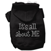 Mirage Pet Products It's All About Me Rhinestone Hoodies Black XS (8)