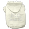 Mirage Pet Products It's All About Me Rhinestone Hoodies Cream XS (8)