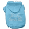Mirage Pet Products It's All About Me Rhinestone Hoodies Baby Blue XXXL(20)