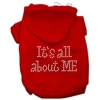 Mirage Pet Products It's All About Me Rhinestone Hoodies Red XS (8)