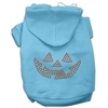 Mirage Pet Products Jack O' Lantern Rhinestone Hoodies Baby Blue XL (16)