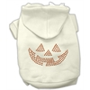 Mirage Pet Products Jack O' Lantern Rhinestone Hoodies Cream S (10)