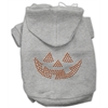 Mirage Pet Products Jack O' Lantern Rhinestone Hoodies Grey XL (16)