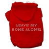 Mirage Pet Products Leave My Bone Alone! Hoodies Red S (10)
