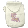 Mirage Pet Products Louisiana Rhinestone Hoodie Cream L (14)