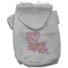 Mirage Pet Products Louisiana Rhinestone Hoodie Grey XL (16)
