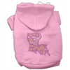 Mirage Pet Products Louisiana Rhinestone Hoodie Pink XS (8)