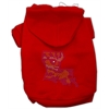 Mirage Pet Products Louisiana Rhinestone Hoodie Red S (10)