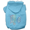 Mirage Pet Products Technicolor Love Rhinestone Pet Hoodie Baby Blue Sm (10)