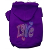 Mirage Pet Products Technicolor Love Rhinestone Pet Hoodie Purple XS (8)