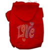 Mirage Pet Products Technicolor Love Rhinestone Pet Hoodie Red XS (8)
