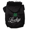 Mirage Pet Products Lucky Rhinestone Hoodies Black L (14)