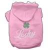 Mirage Pet Products Lucky Rhinestone Hoodies Pink XL (16)