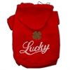 Mirage Pet Products Lucky Rhinestone Hoodies Red L (14)