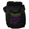 Mirage Pet Products Mardi Gras Rhinestud Hoodies Black XXL (18)