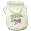 Mirage Pet Products Mardi Gras Rhinestud Hoodies Cream XS (8)