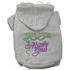 Mirage Pet Products Mardi Gras Rhinestud Hoodies Grey XXXL(20)