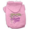 Mirage Pet Products Mardi Gras Rhinestud Hoodies Pink XXXL(20)