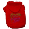 Mirage Pet Products Mardi Gras Rhinestud Hoodies Red XS (8)
