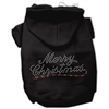 Mirage Pet Products Merry Christmas Rhinestone Hoodies Black XS (8)
