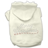 Mirage Pet Products Merry Christmas Rhinestone Hoodies Cream XS (8)