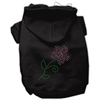 Mirage Pet Products Multi-Colored Flower Rhinestone Hoodie Black L (14)