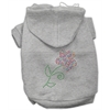 Mirage Pet Products Multi-Colored Flower Rhinestone Hoodie Grey XL (16)