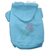 Mirage Pet Products Multi-Colored Flower Rhinestone Hoodie Baby Blue XXXL(20)