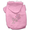 Mirage Pet Products Multi-Colored Flower Rhinestone Hoodie Pink XXXL(20)