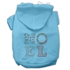 Mirage Pet Products Noel Rhinestone Hoodies Baby Blue XXXL(20)