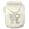 Mirage Pet Products Noel Rhinestone Hoodies Cream XXXL(20)