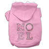 Mirage Pet Products Noel Rhinestone Hoodies Pink XXXL(20)
