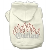 Mirage Pet Products Outlaw Rhinestone Hoodies Cream XL (16)