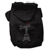 Mirage Pet Products Paris Rhinestone Hoodies Black XS (8)