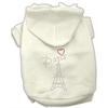 Mirage Pet Products Paris Rhinestone Hoodies Cream XXXL(20)