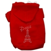Mirage Pet Products Paris Rhinestone Hoodies Red XS (8)