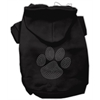 Mirage Pet Products Clear Rhinestone Paw Hoodies Black XXL (18)