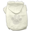 Mirage Pet Products Clear Rhinestone Paw Hoodies Cream M (12)