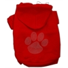 Mirage Pet Products Clear Rhinestone Paw Hoodies Red XS (8)