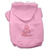 Mirage Pet Products Peace Tree Rhinestone Hoodies Pink XL (16)