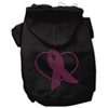 Mirage Pet Products Pink Ribbon Rhinestone Hoodies Black XXL (18)