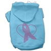 Mirage Pet Products Pink Ribbon Rhinestone Hoodies Baby Blue XXXL(20)